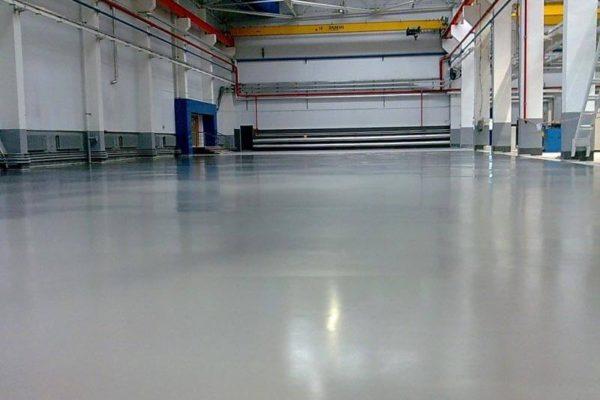 Промышленные бетонные полы производства «АЛЬФАПОЛ»