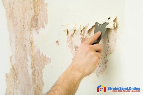Способы удаления обоев со стен