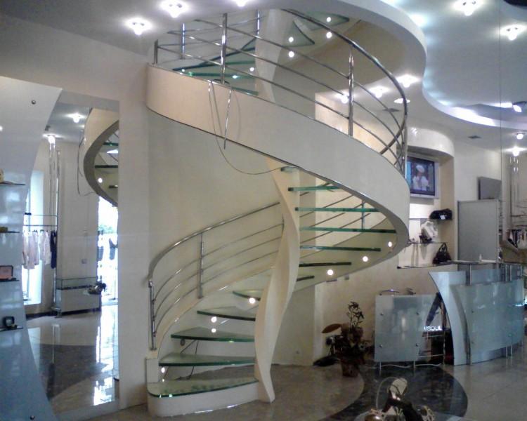 Порядок установки винтовой лестницы