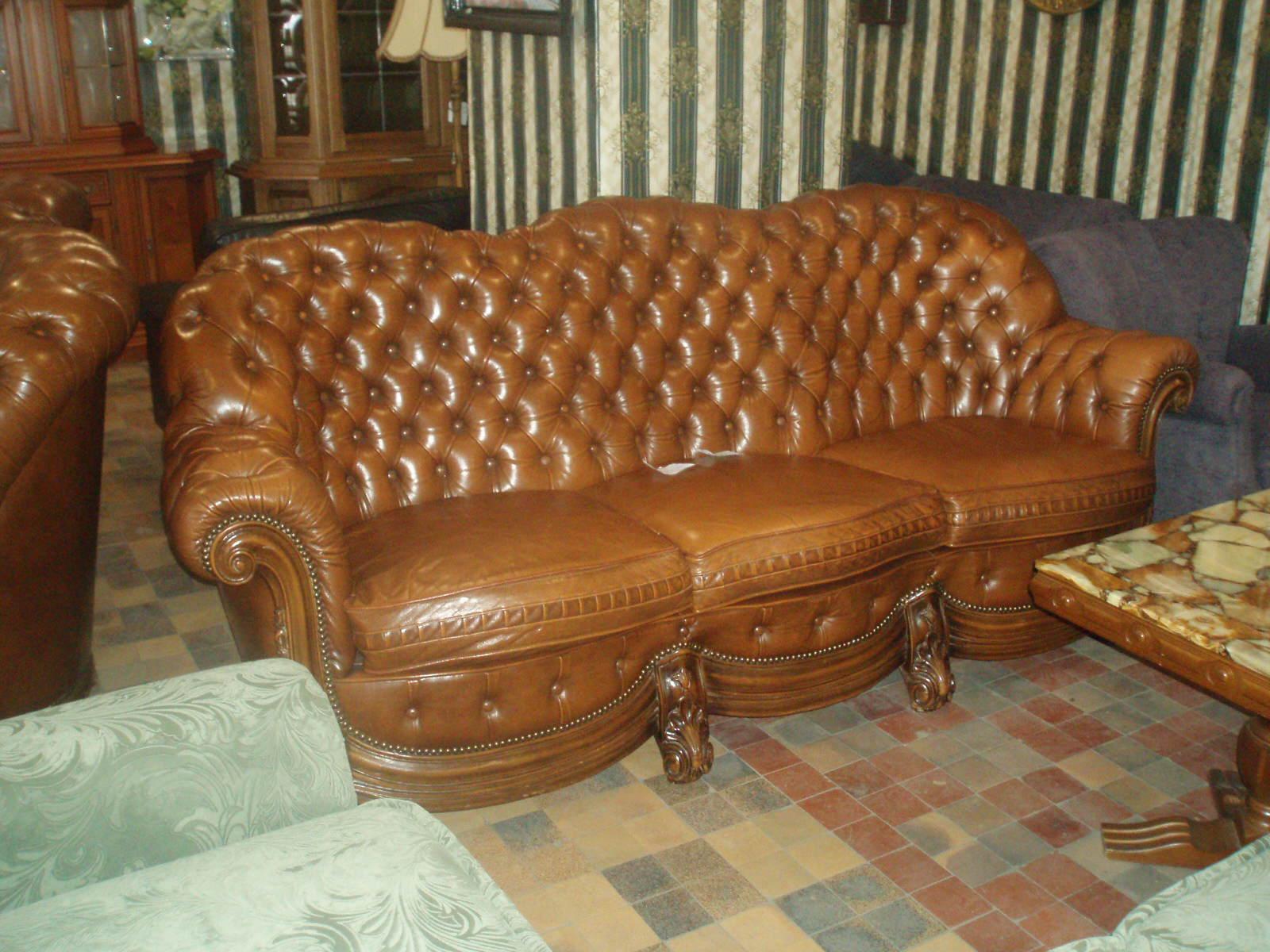 Как зашить кожаный диван